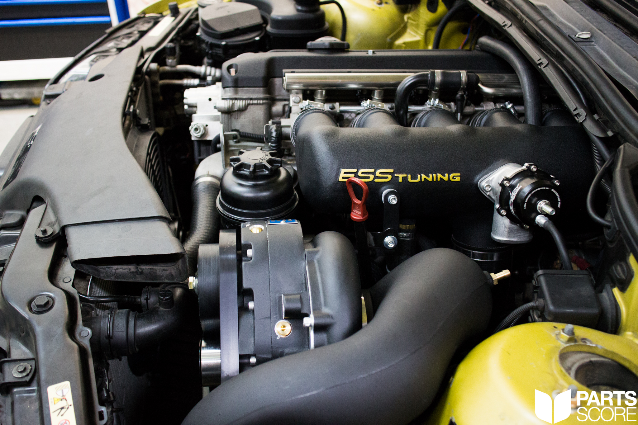 Phoenix Yellow E46 M3 : ESS Tuning 575HP Supercharger Kit