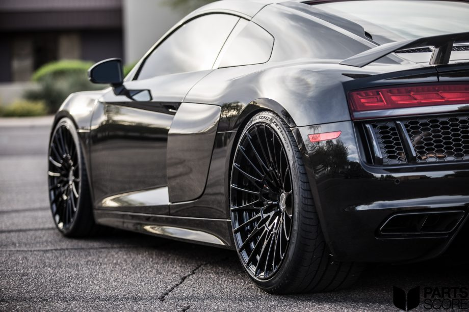 audi r8 v10 plus: brixton forged 2-piece hs1 duo series concave forged  wheels